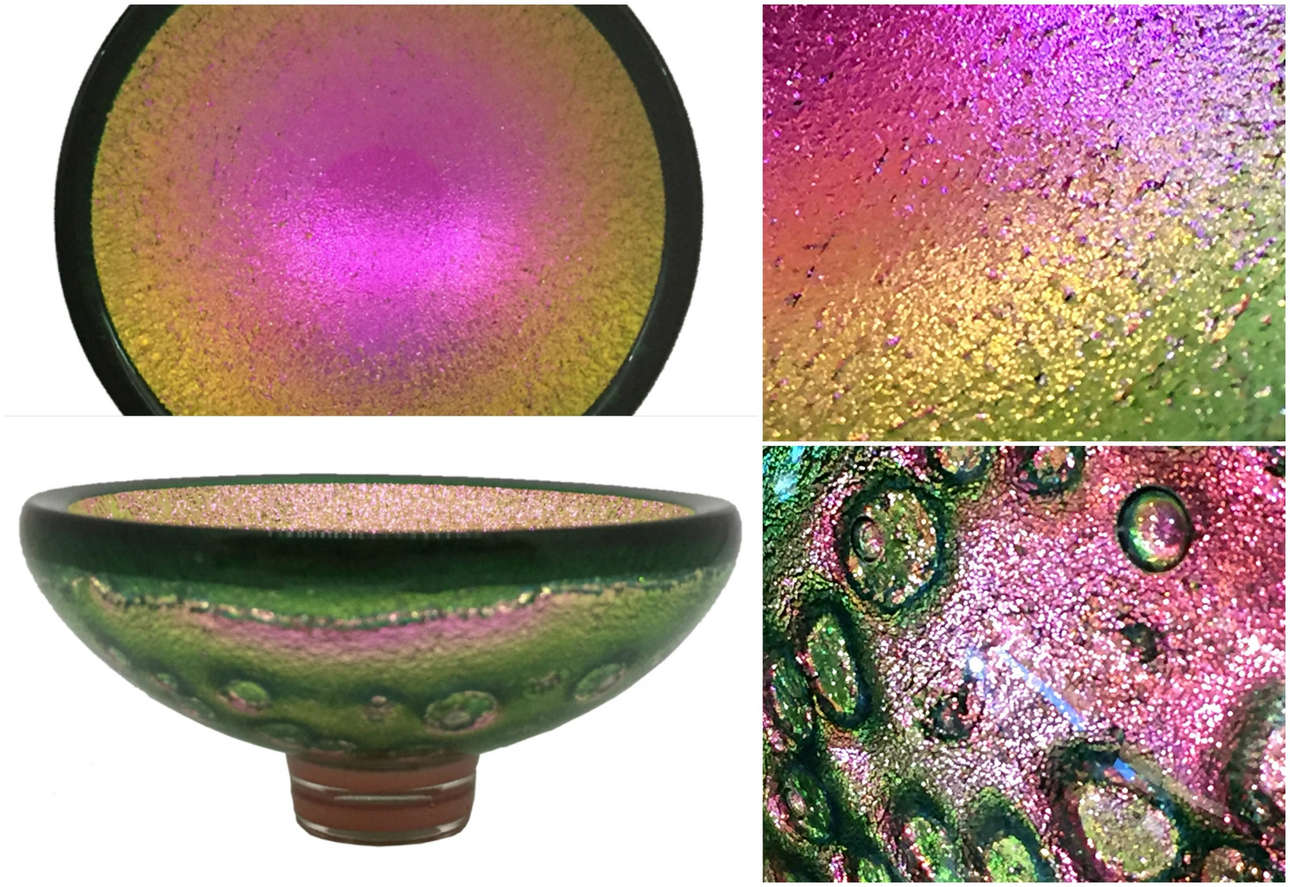 Multichrome Thing of Beauty 3066, dichroic glass bowl by Jo Ludwig | Effusion Art Gallery + Glass Studio, Invermere BC