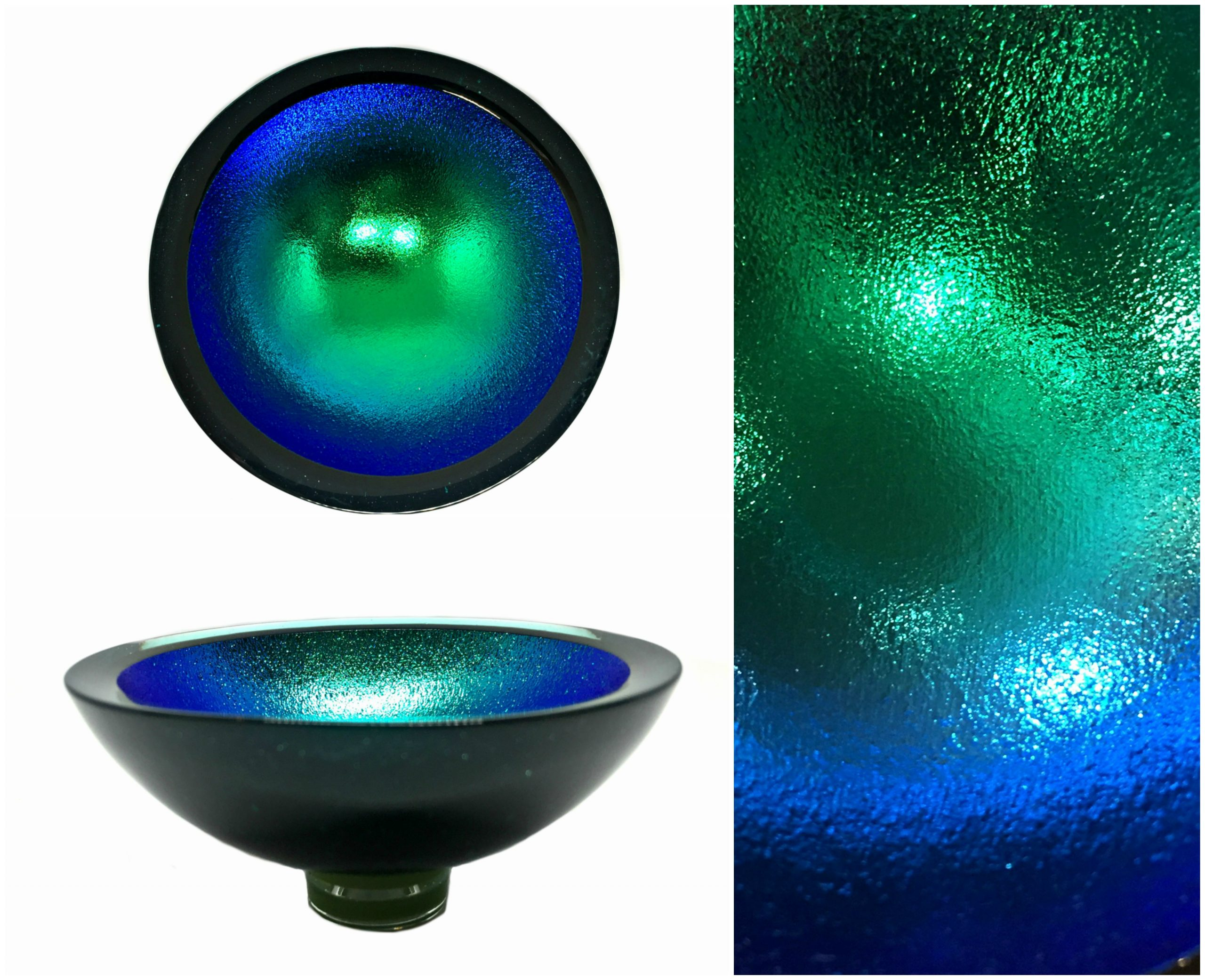 Multichrome Thing of Beauty 3325, dichroic glass bowl by Jo Ludwig | Effusion Art Gallery + Glass Studio, Invermere BC