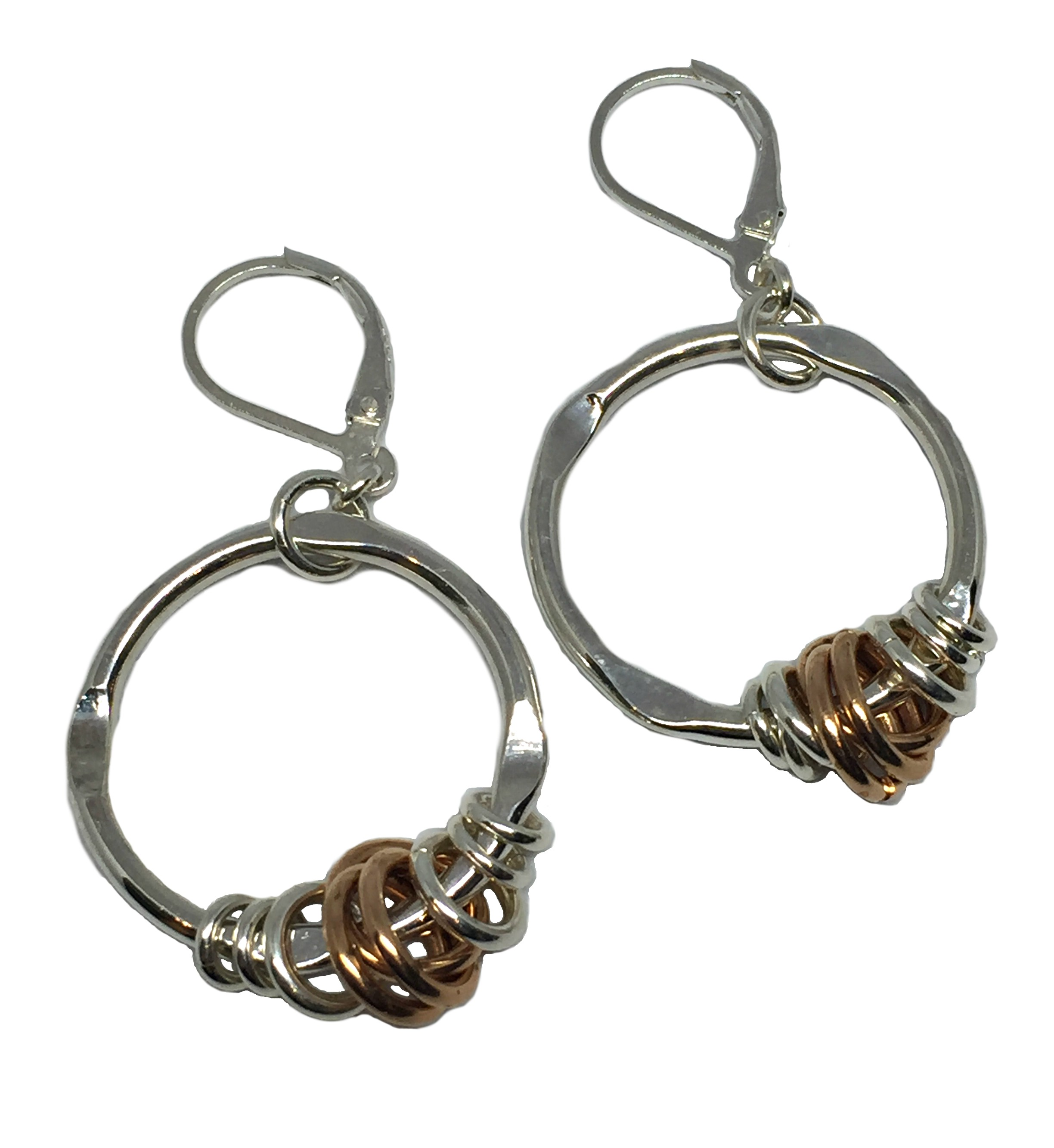 Sterling Silver + Bronze Earrings by Karyn Chopik | Effusion Art Gallery + Cast Glass Studio, Invermere BC