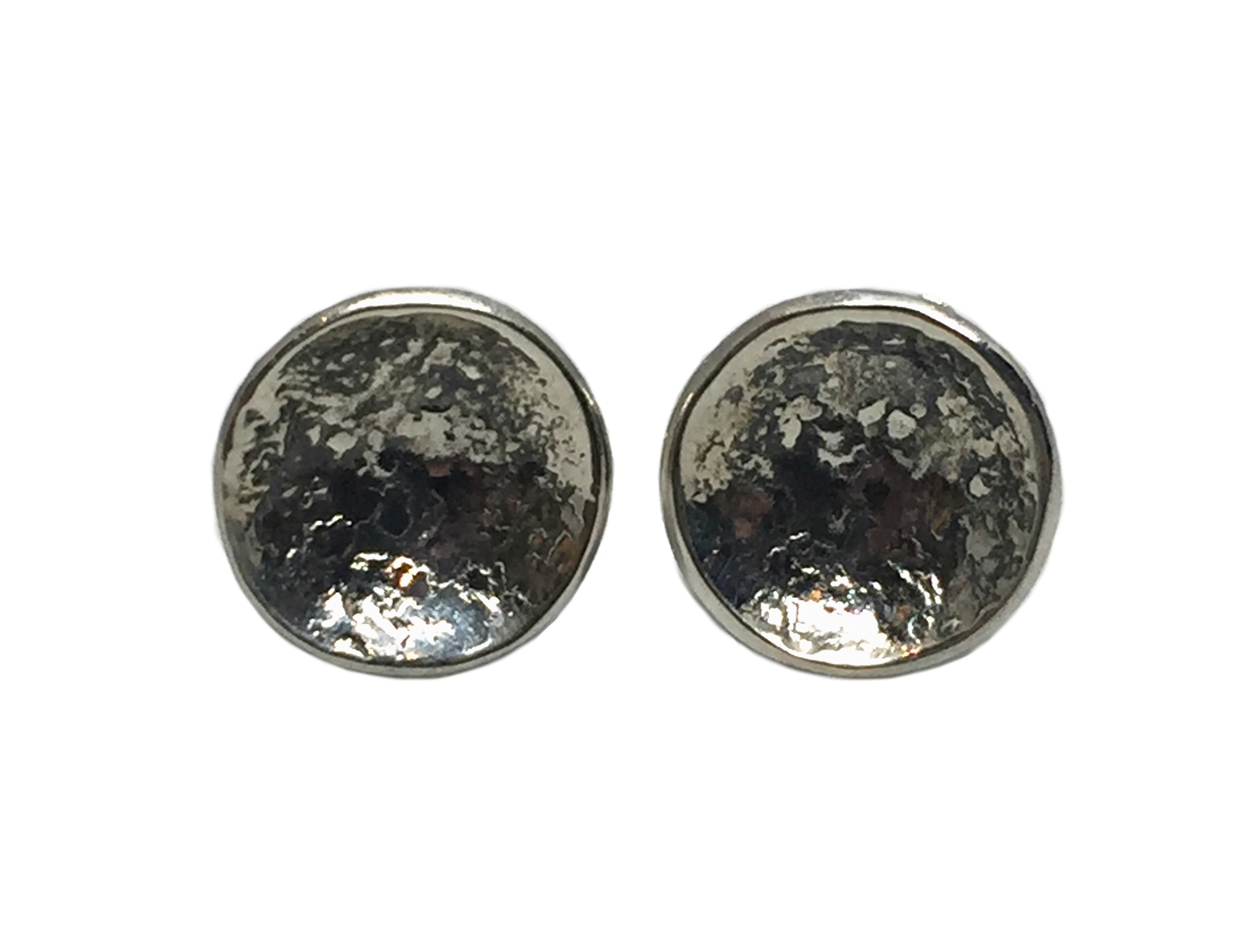 Sterling Silver Stud Earrings by Karyn Chopik | Effusion Art Gallery + Cast Glass Studio, Invermere BC