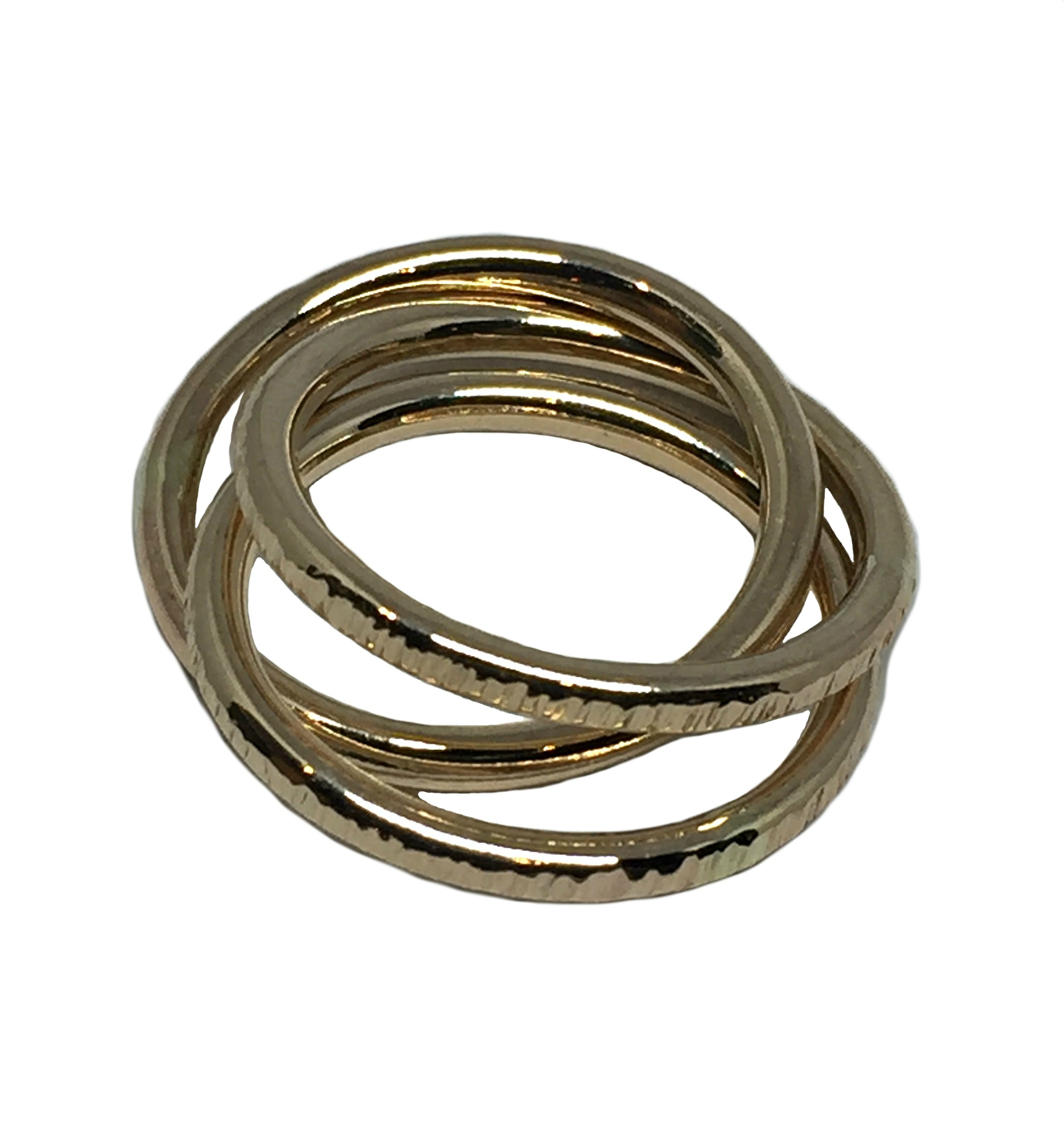 3 Interlocking Gold Rings by Karyn Chopik | Effusion Art Gallery + Cast Glass Studio, Invermere BC