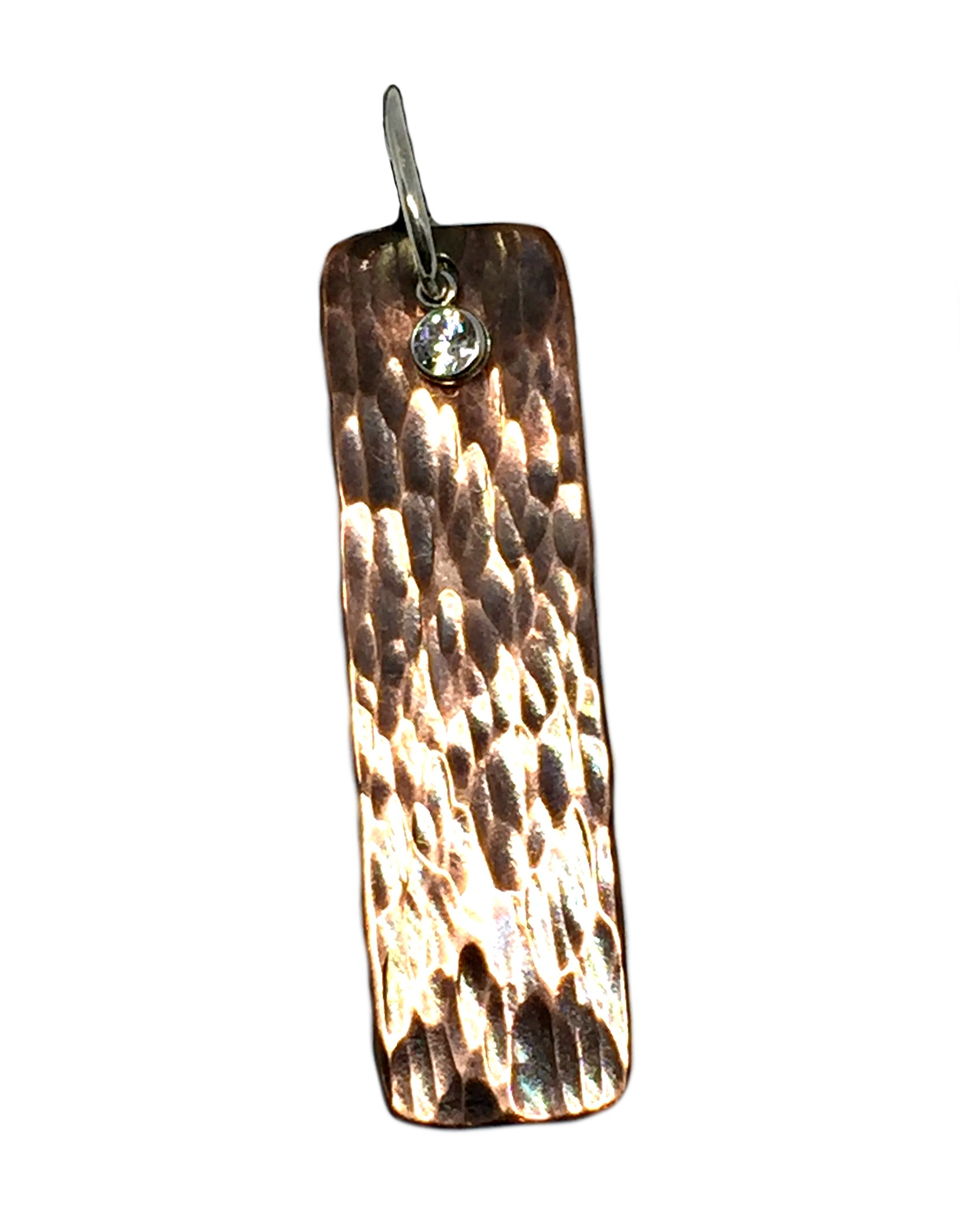 Copper, sterling silver, and CZ Karyn Chopik pendant | Effusion Art Gallery + Cast Glass Studio, Invermere BC