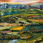 Stairway Too...  mixed media landscape painting by David Zimmerman   Effusion Art Gallery + Cast Glass Studio, Invermere BC