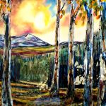 The Ballad, mixed media landscape painting by David Zimmerman | Effusion Art Gallery + Cast Glass Studio, Invermere BC