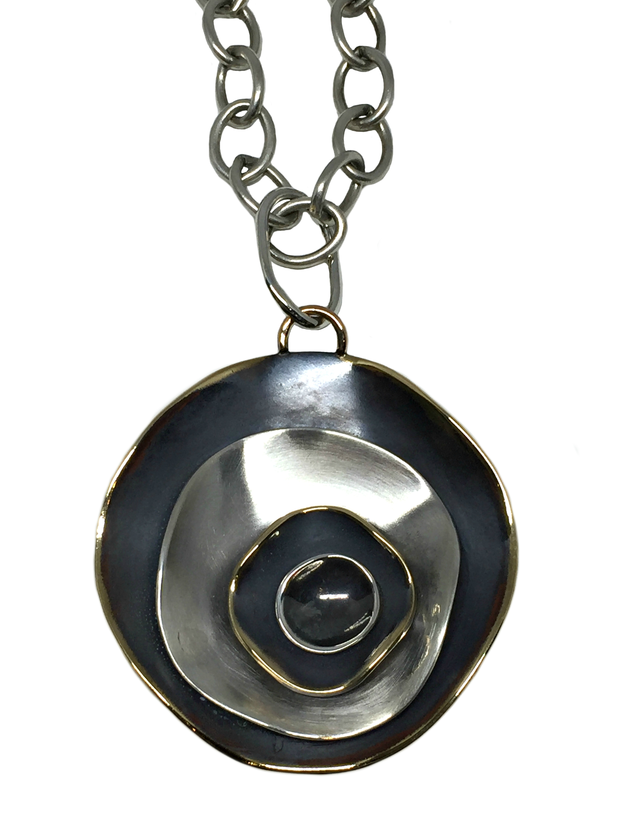 Bronze and sterling silver Karyn Chopik pendant | Effusion Art Gallery + Cast Glass Studio, Invermere BC