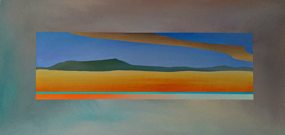 Foothills Window 1, acrylic painting by Joel Masewich | Effusion Art Gallery + Cast Glass Studio, Invermere BC