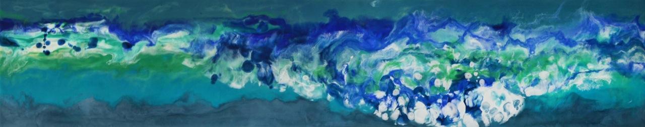 Meditation Waves #3, encaustic painting by Marie-Danielle Leblanc | Effusion Art Gallery + Cast Glass Studio, Invermere BC