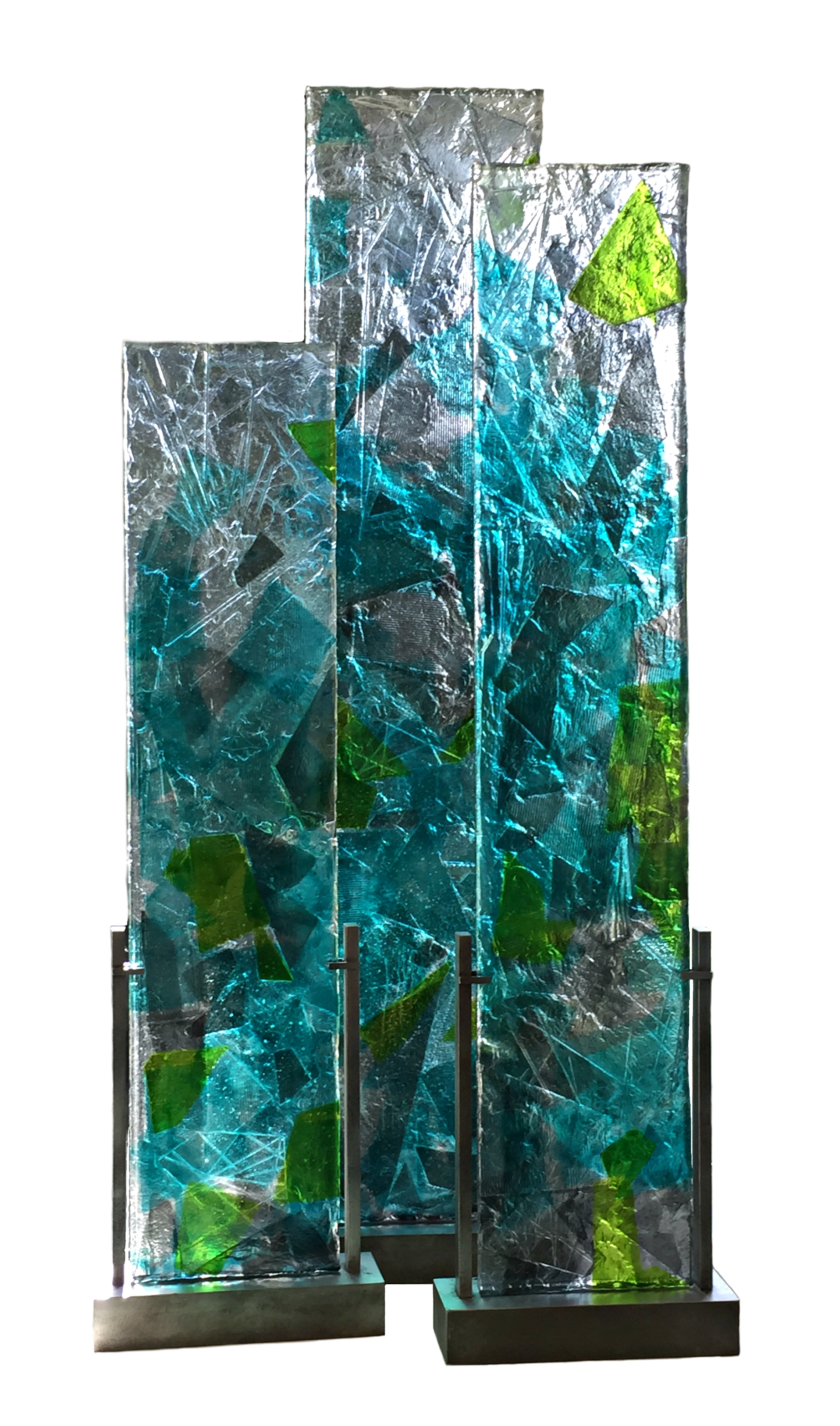 Tranquility, cast glass panels/room dividers by Heather Cuell | Effusion Art Gallery + Cast Glass Studio, Invermere BC