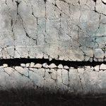 Winter Studies #1, mixed media painting by Karen Bagayawa | Effusion Art Gallery + Cast Glass Studio, Invermere BC