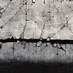 Winter Studies #3, mixed media painting by Karen Bagayawa | Effusion Art Gallery + Cast Glass Studio, Invermere BC
