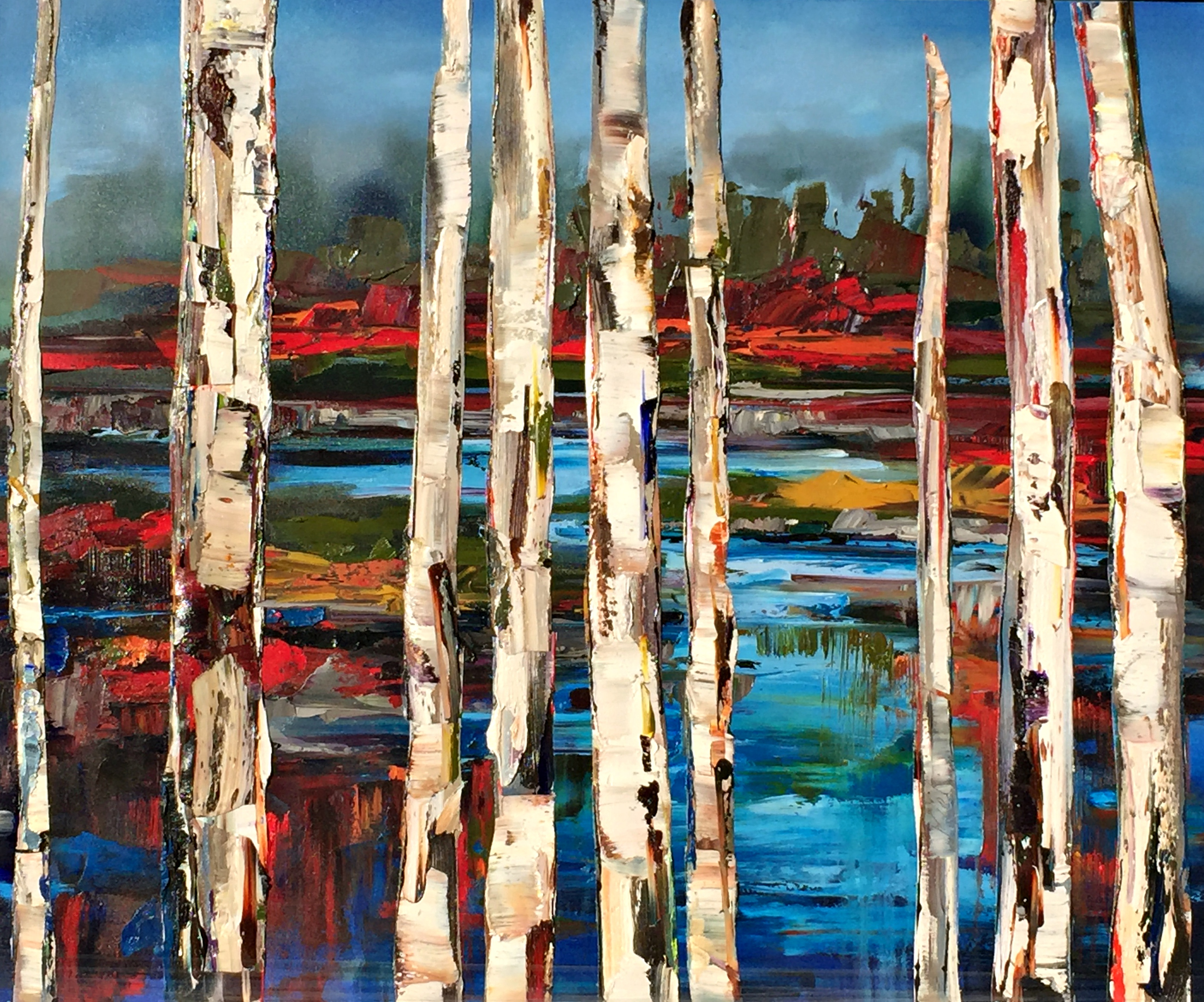 In Simpler Terms, oil painting by Kimberly Kiel | Effusion Art Gallery + Cast Glass Studio, Invermere BC