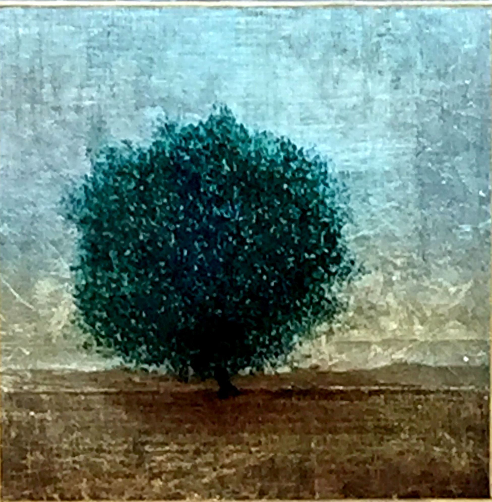 #168, mixed media tree painting by David Graff | Effusion Art Gallery + Cast Glass Studio, Invermere BC