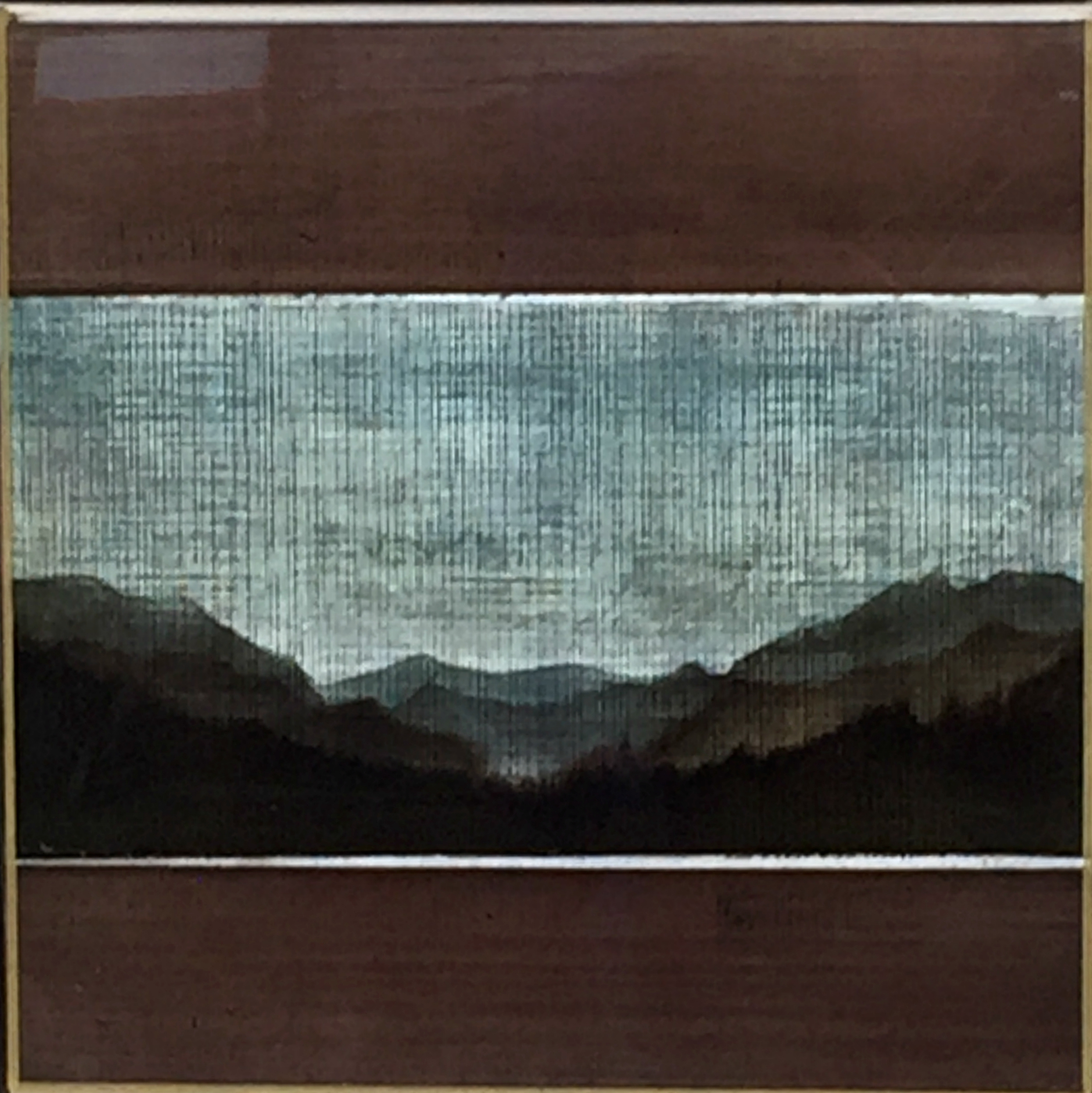 #171, mixed media landscape painting by David Graff | Effusion Art Gallery + Cast Glass Studio, Invermere BC
