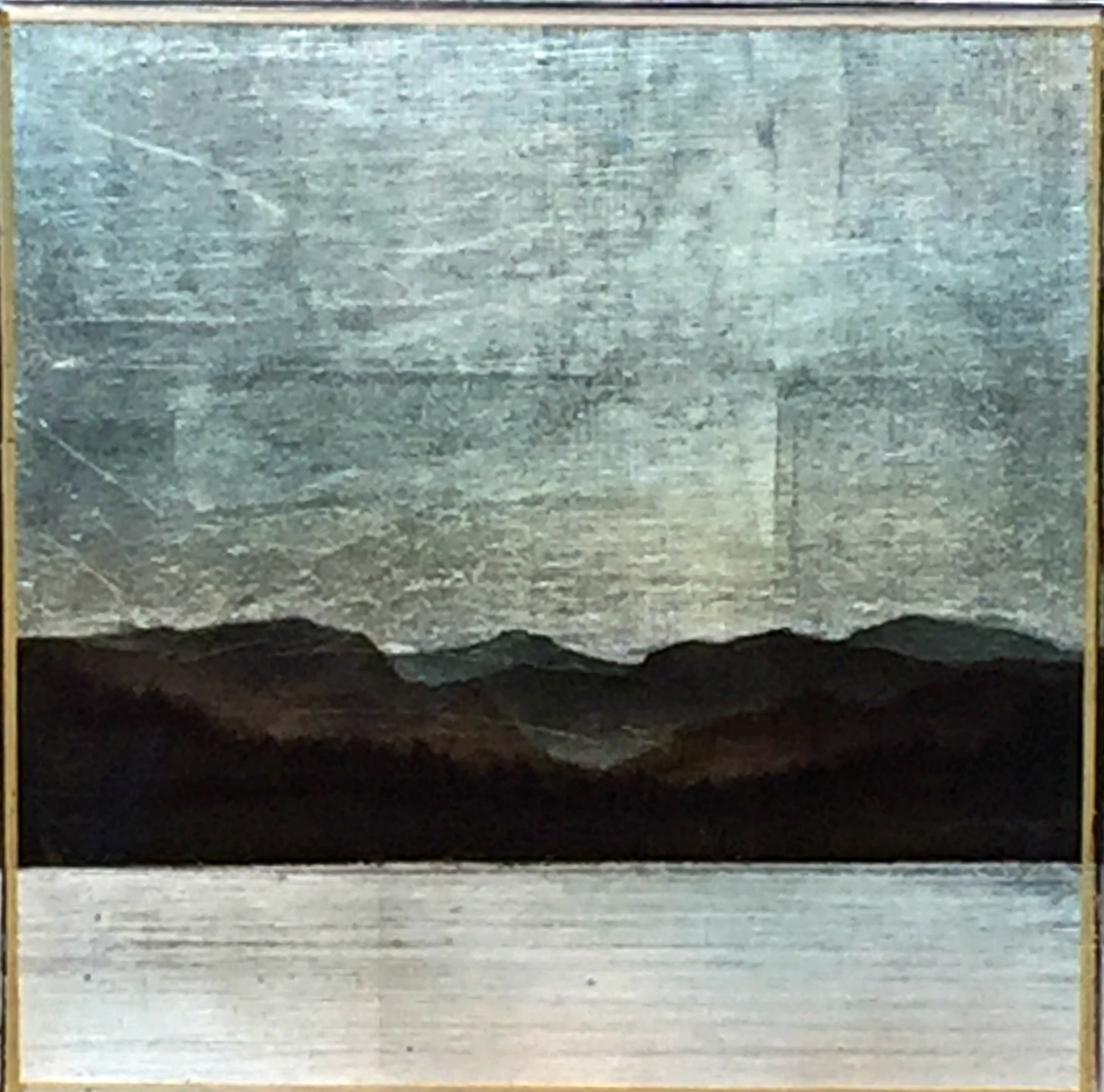 #172, mixed media landscape painting by David Graff | Effusion Art Gallery + Cast Glass Studio, Invermere BC