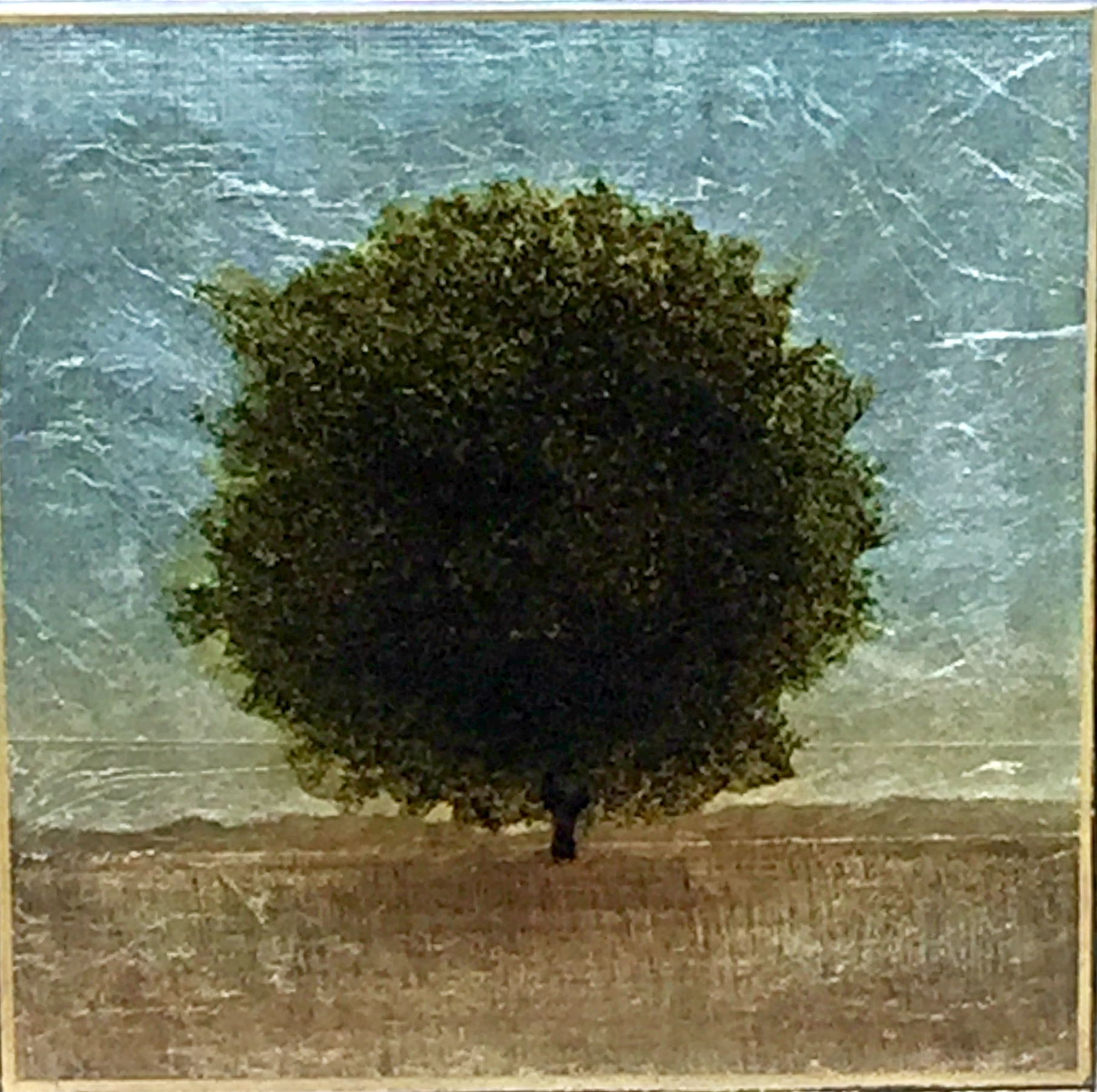 #179, mixed media tree painting by David Graff | Effusion Art Gallery + Cast Glass Studio, Invermere BC