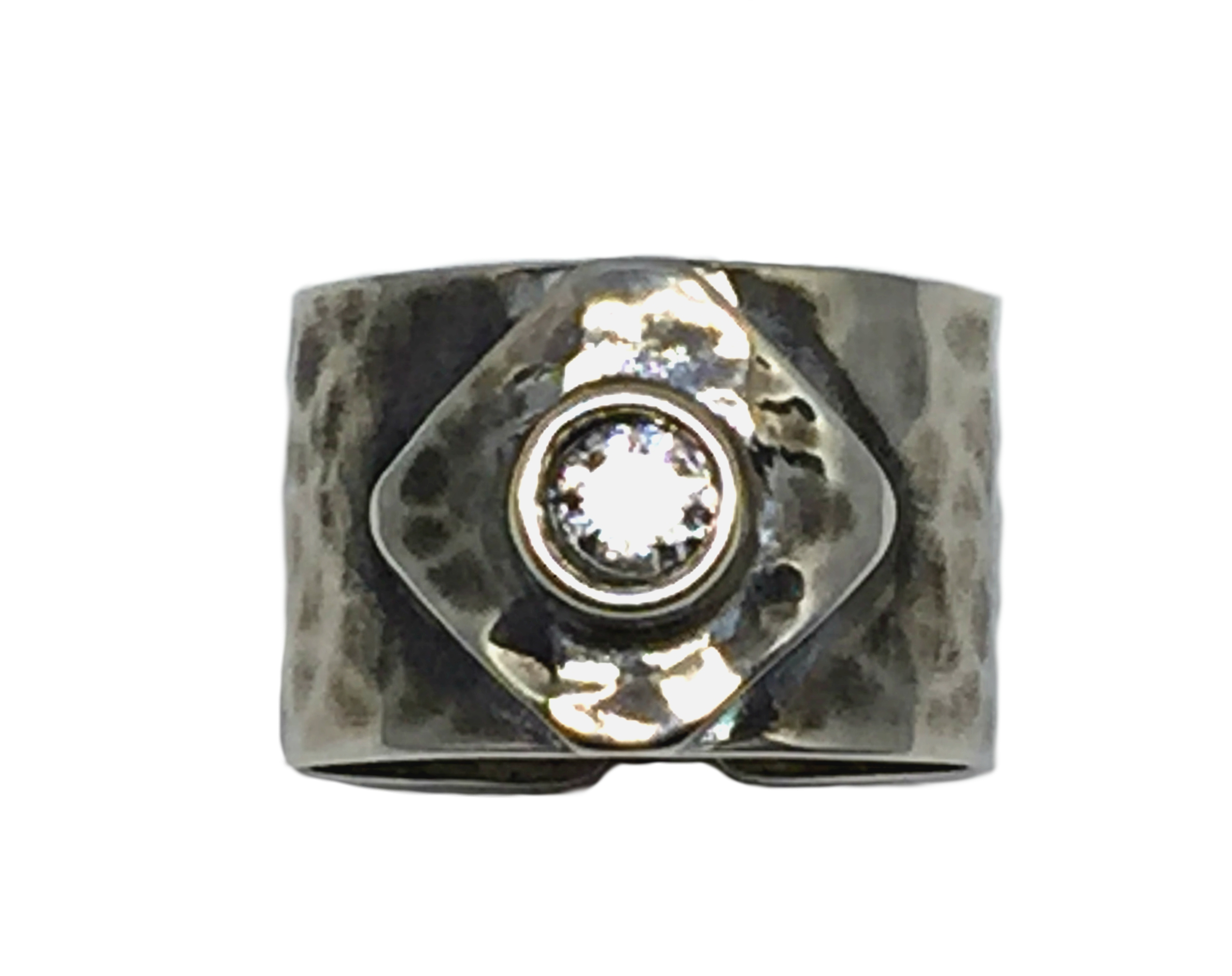 Sterling silver and CZ Karyn Chopik ring | Effusion Art Gallery + Cast Glass Studio, Invermere BC