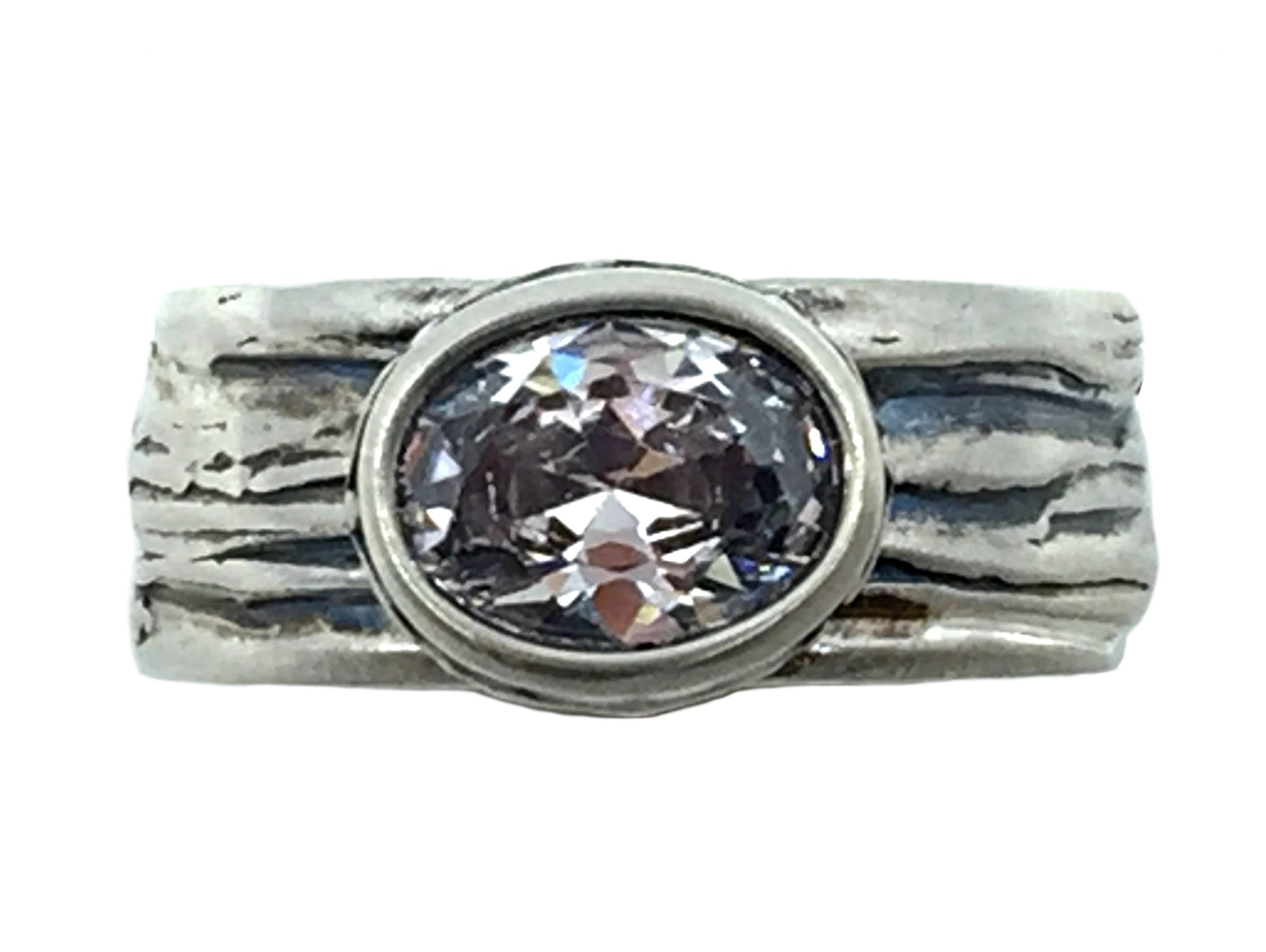 Sterling silver and CZ Karyn Chopik ring   Effusion Art Gallery + Cast Glass Studio, Invermere BC