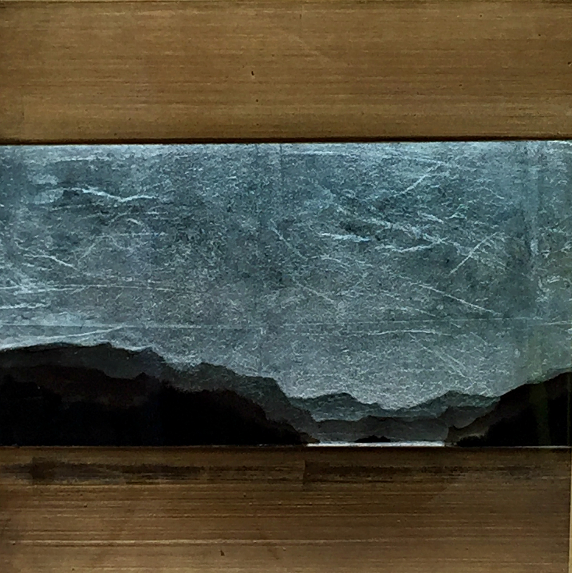 #550, mixed media landscape painting by David Graff | Effusion Art Gallery + Cast Glass Studio, Invermere BC