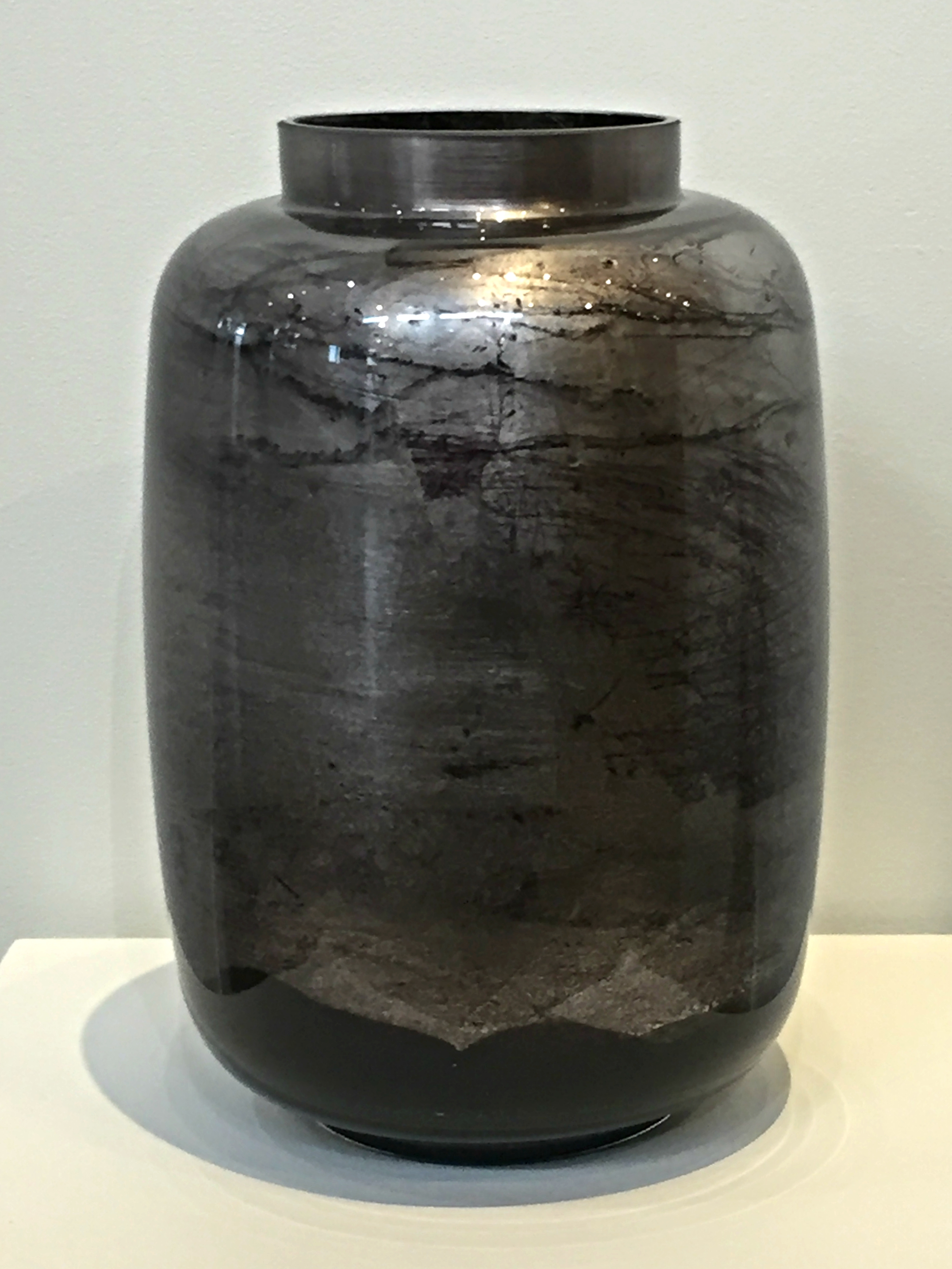 Silver hand-gilded Mandarin vase by David Graff | Effusion Art Gallery + Cast Glass Studio, Invermere BC