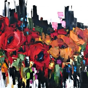Let it Shine, oil floral painting by Kimberly Kiel   Effusion Art Gallery + Cast Glass Studio, Invermere BC