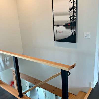 Slowly Passing Time by Natasha Miller installed in its beautiful new home   Effusion Art Gallery + Cast Glass Studio, Invermere BC