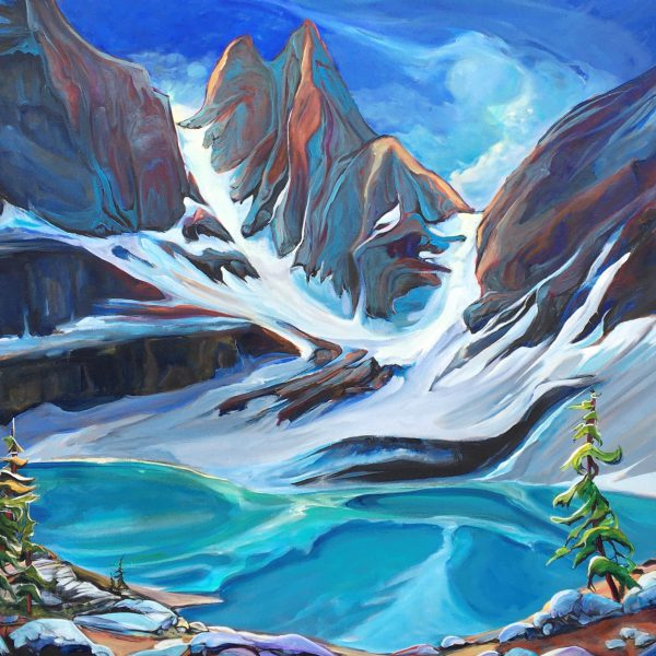Opulence of Oesa, acrylic landscape painting by Heather Pant   Effusion Art Gallery + Cast Glass Studio, Invermere BC