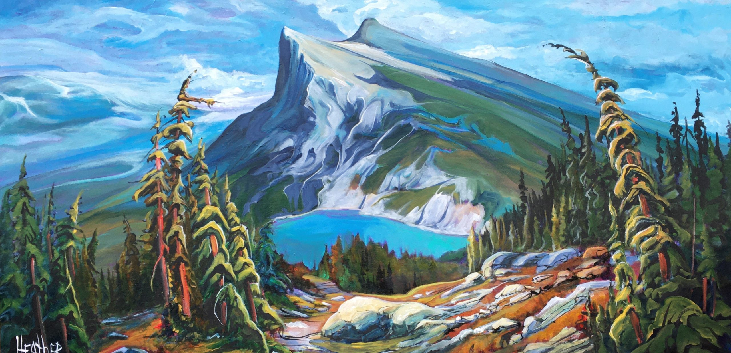 Path of Plenty, landscape painting by Heather Pant | Effusion Art Gallery + Cast Glass Studio, Invermere BC