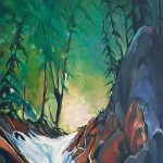 Plush Rush, acrylic landscape by Heather Pant | Effusion Art Gallery + Cast Glass Studio, Invermere BC