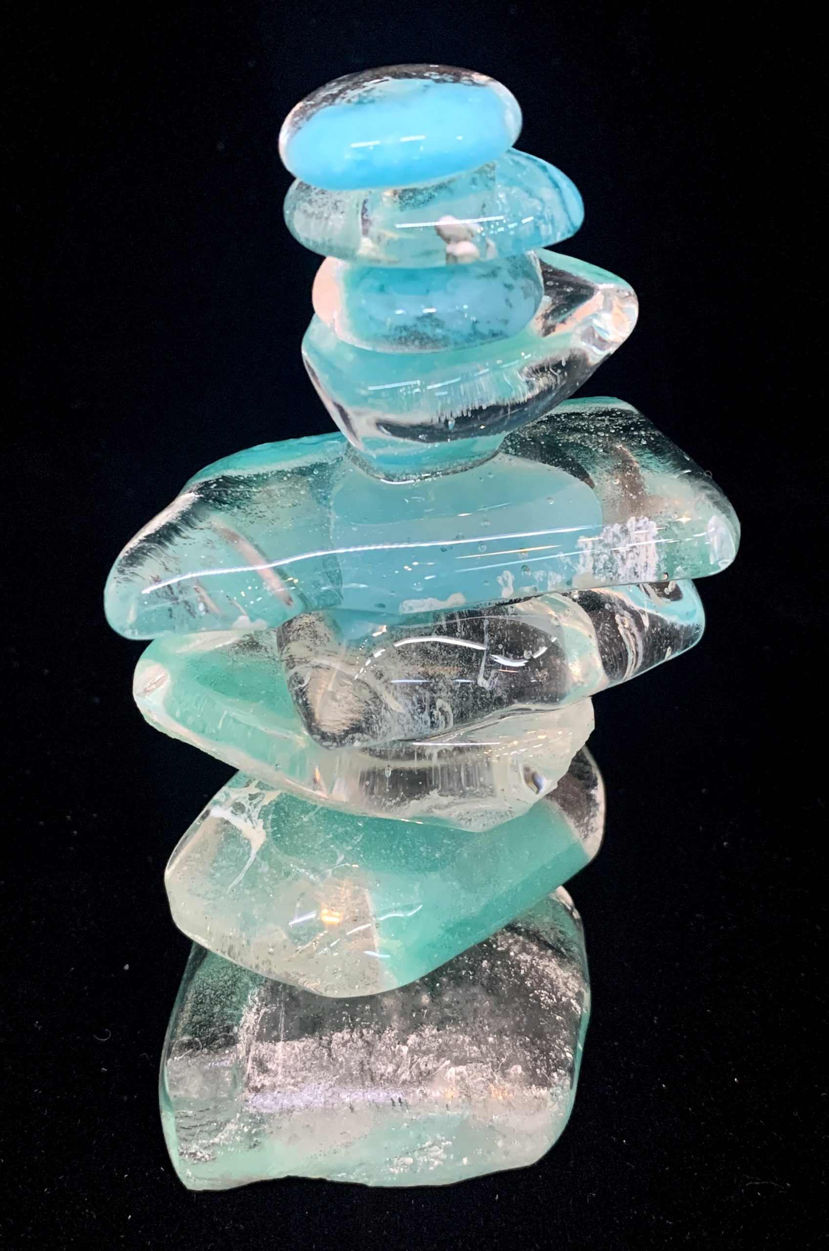 Cast Glass Rocky Mountain Cairn 10 by Heather Cuell | Effusion Art Gallery + Cast Glass Studio, Invermere BC