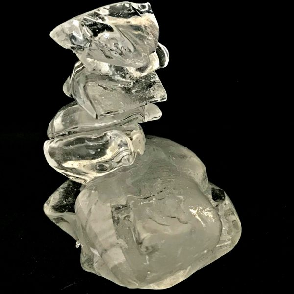 Cast Glass Rocky Mountain Cairn 16 sculpture by Heather Cuell   Effusion Art Gallery + Cast Glass Studio, Invermere BC