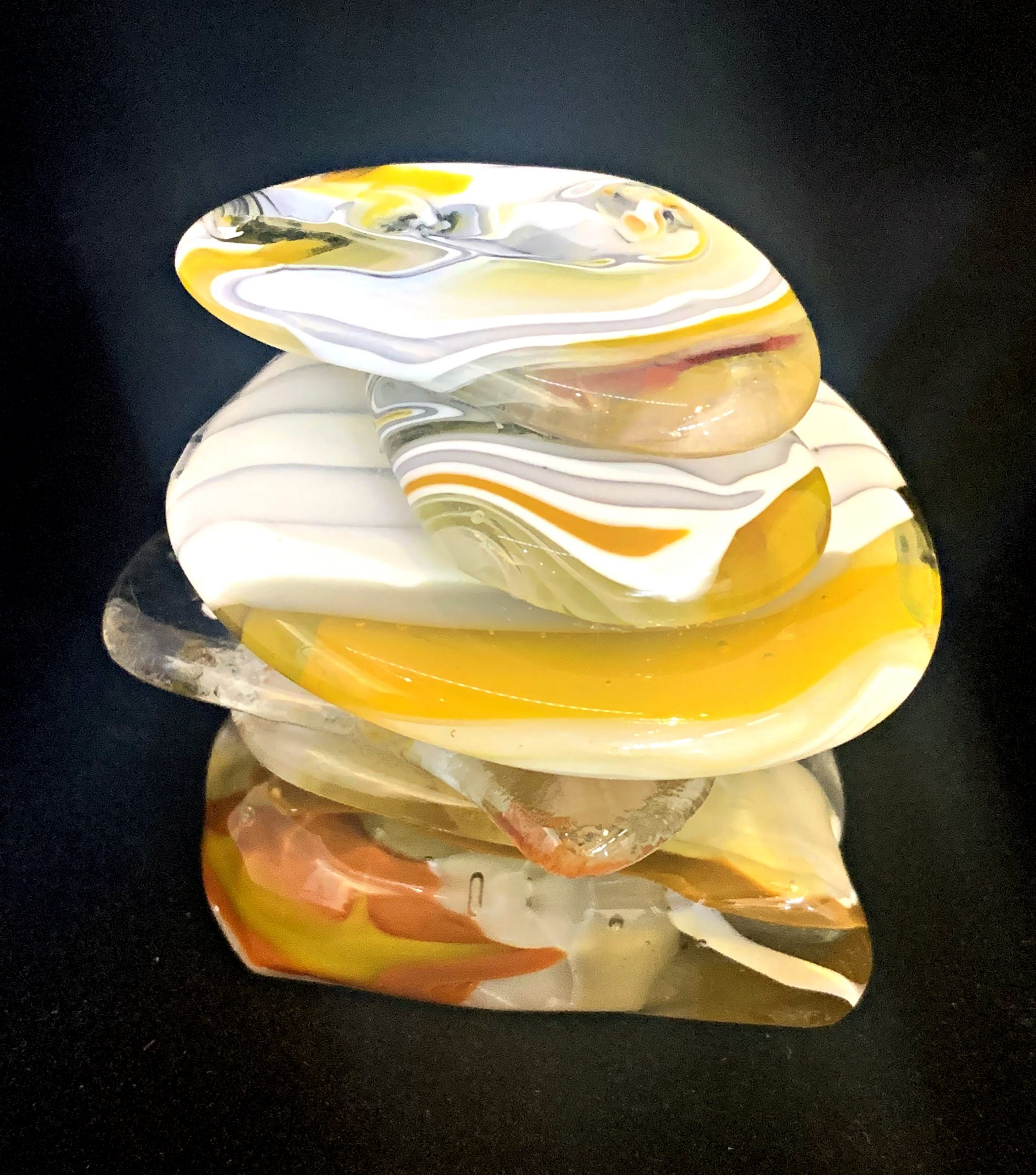 Cast Glass Rocky Mountain Cairn 8 sculpture by Heather Cuell | Effusion Art Gallery + Cast Glass Studio, Invermere BC
