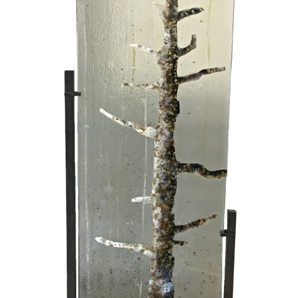 Morning Light, cast glass tree panel by Heather Cuell   Effusion Art Gallery + Cast Glass Studio, Invermere BC