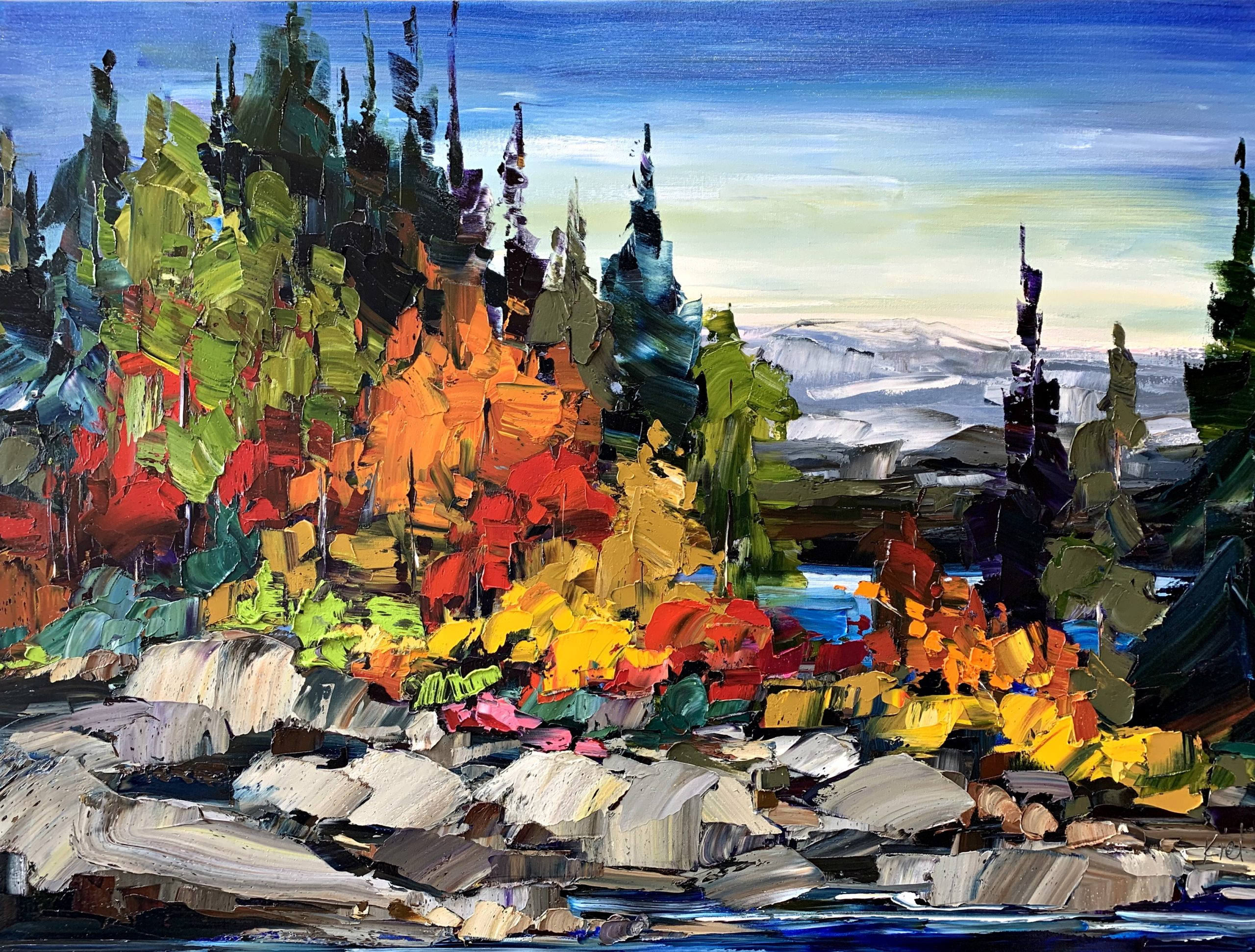 A Gallery of Talismans, landscape oil painting by Kimberly Kiel | Effusion Art Gallery + Cast Glass Studio, Invermere BC