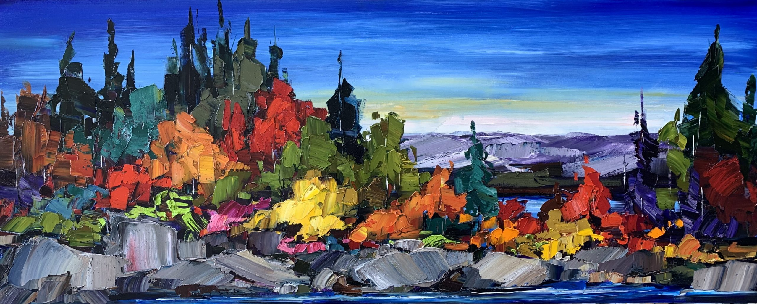 All These Places, oil landscape painting by Kimberly Kiel | Effusion Art Gallery + Cast Glass Studio, Invermere BC