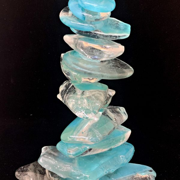 Cast Glass Rocky Mountain Cairn 21 by Heather Cuell   Effusion Art Gallery + Cast Glass Studio, Invermere BC