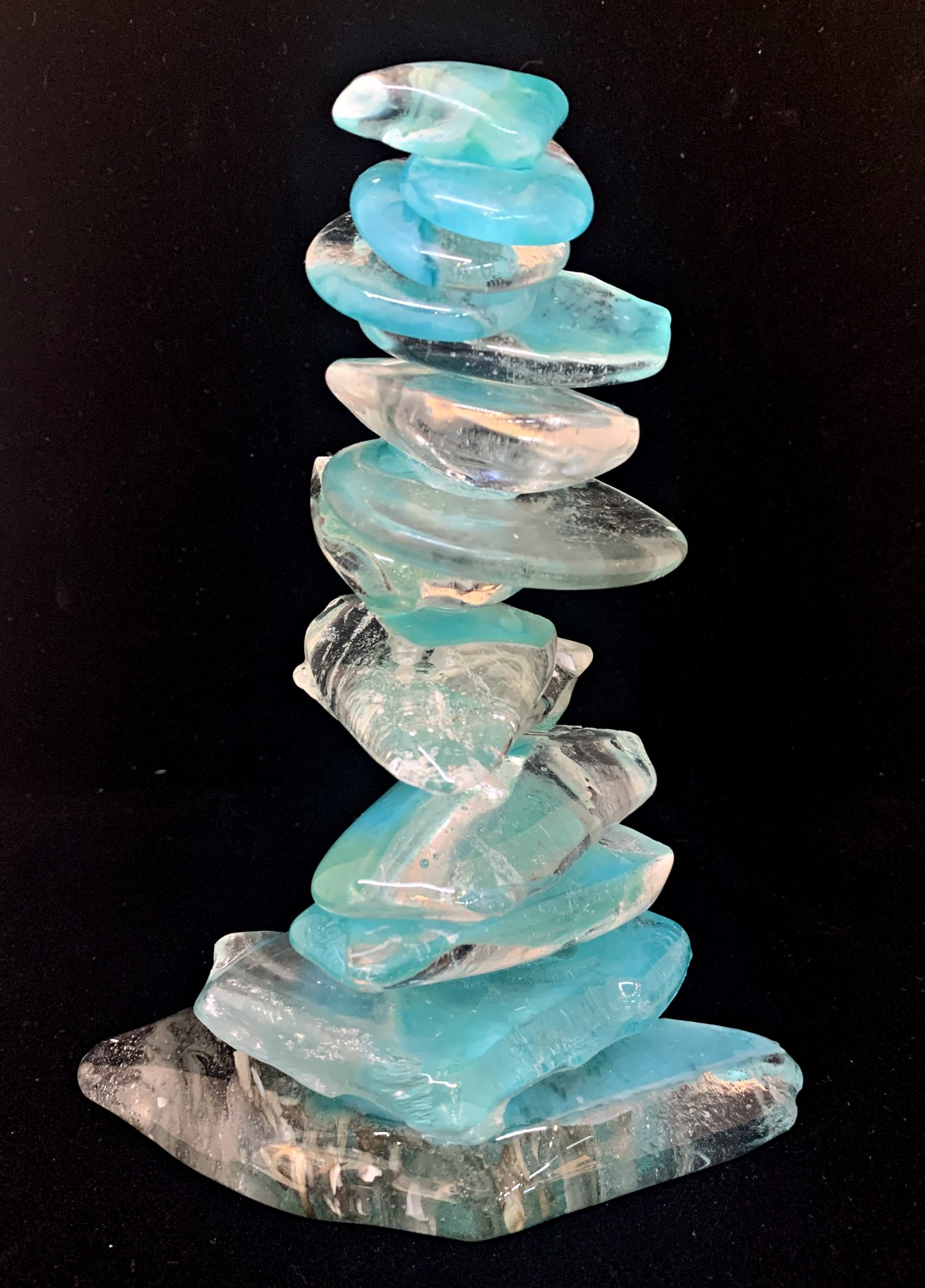 Cast Glass Rocky Mountain Cairn 21 by Heather Cuell | Effusion Art Gallery + Cast Glass Studio, Invermere BC