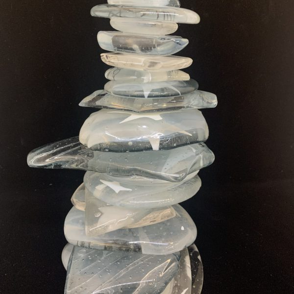 Cast Glass Rocky Mountain Cairn 39 by Heather Cuell   Effusion Art Gallery + Cast Glass Studio, Invermere BC