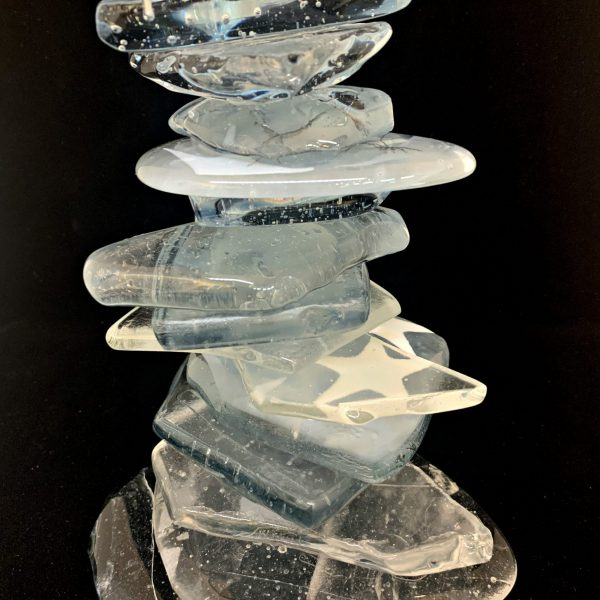 Cast Glass Rocky Mountain Cairn 40 by Heather Cuell   Effusion Art Gallery + Cast Glass Studio, Invermere BC