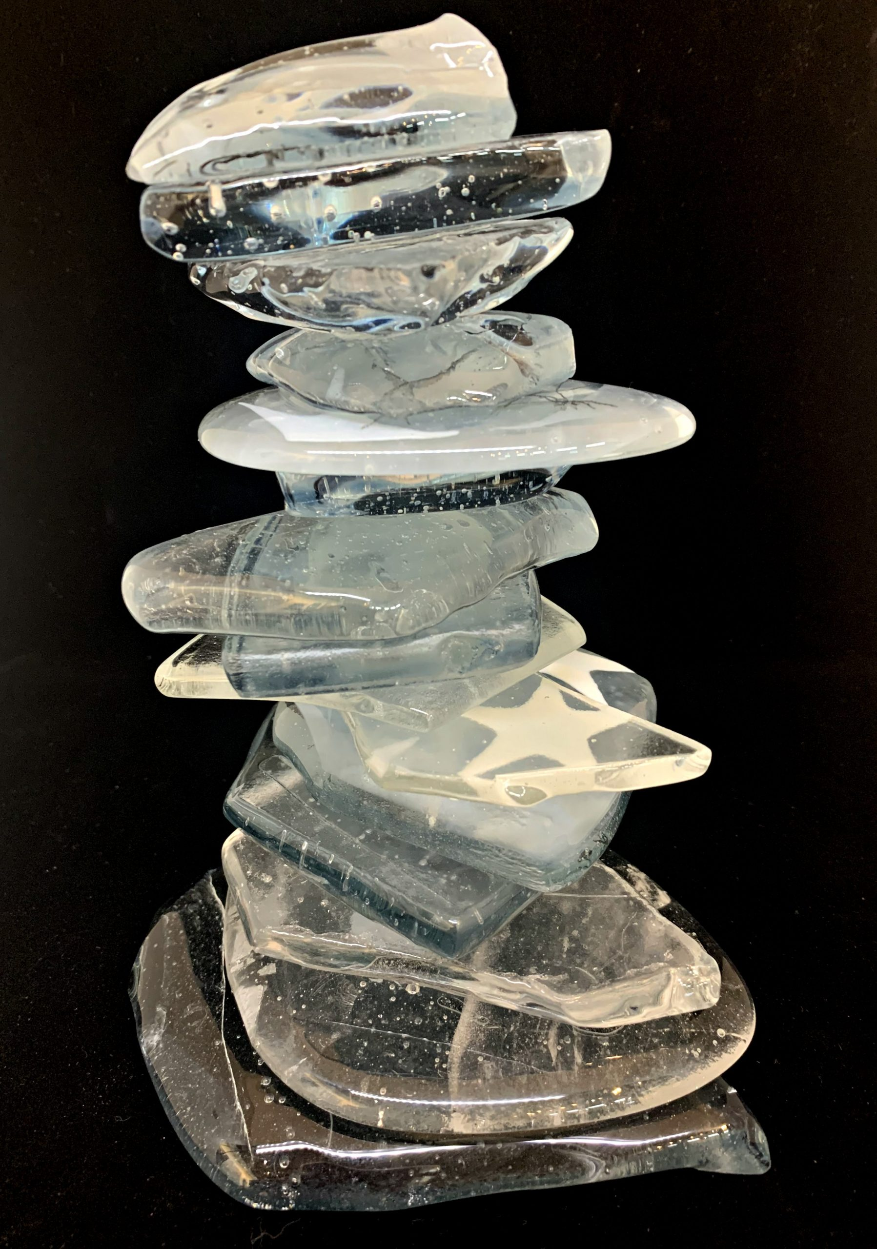 Cast Glass Rocky Mountain Cairn 40 by Heather Cuell | Effusion Art Gallery + Cast Glass Studio, Invermere BC