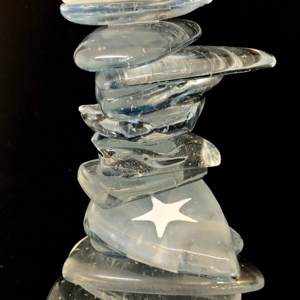 Cast Glass Rocky Mountain Cairn 41 by Heather Cuell   Effusion Art Gallery + Cast Glass Studio, Invermere BC
