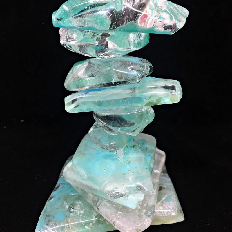 Cast Glass Rocky Mountain Cairns