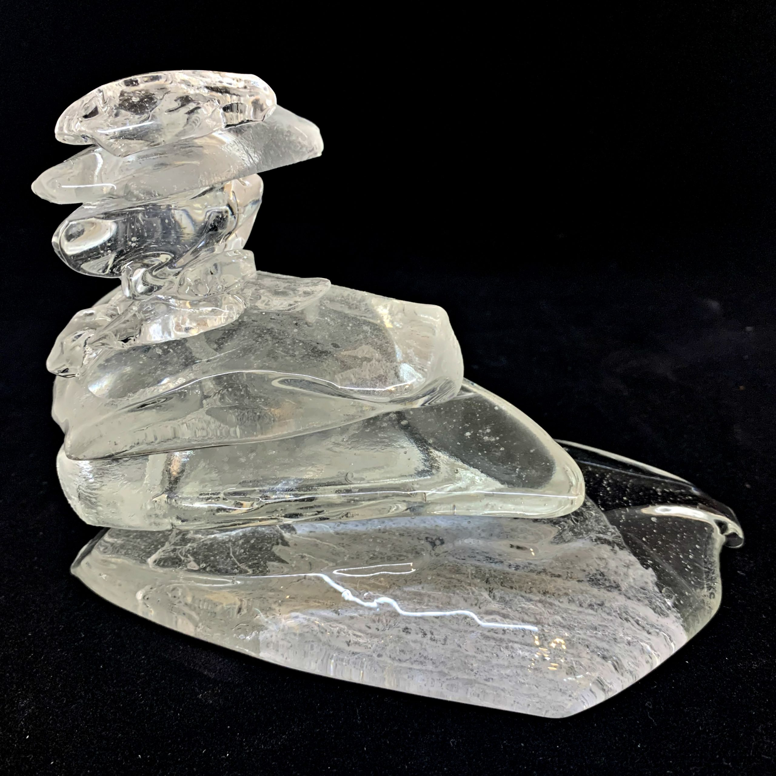 Rocky Mountain Cairn 32, cast glass sculpture by Heather Cuell | Effusion Art Gallery + Cast Glass Studio, Invermere BC