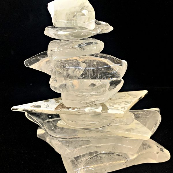 Cast Glass Rocky Mountain Cairn 37 by Heather Cuell   Effusion Art Gallery + Cast Glass Studio, Invermere BC