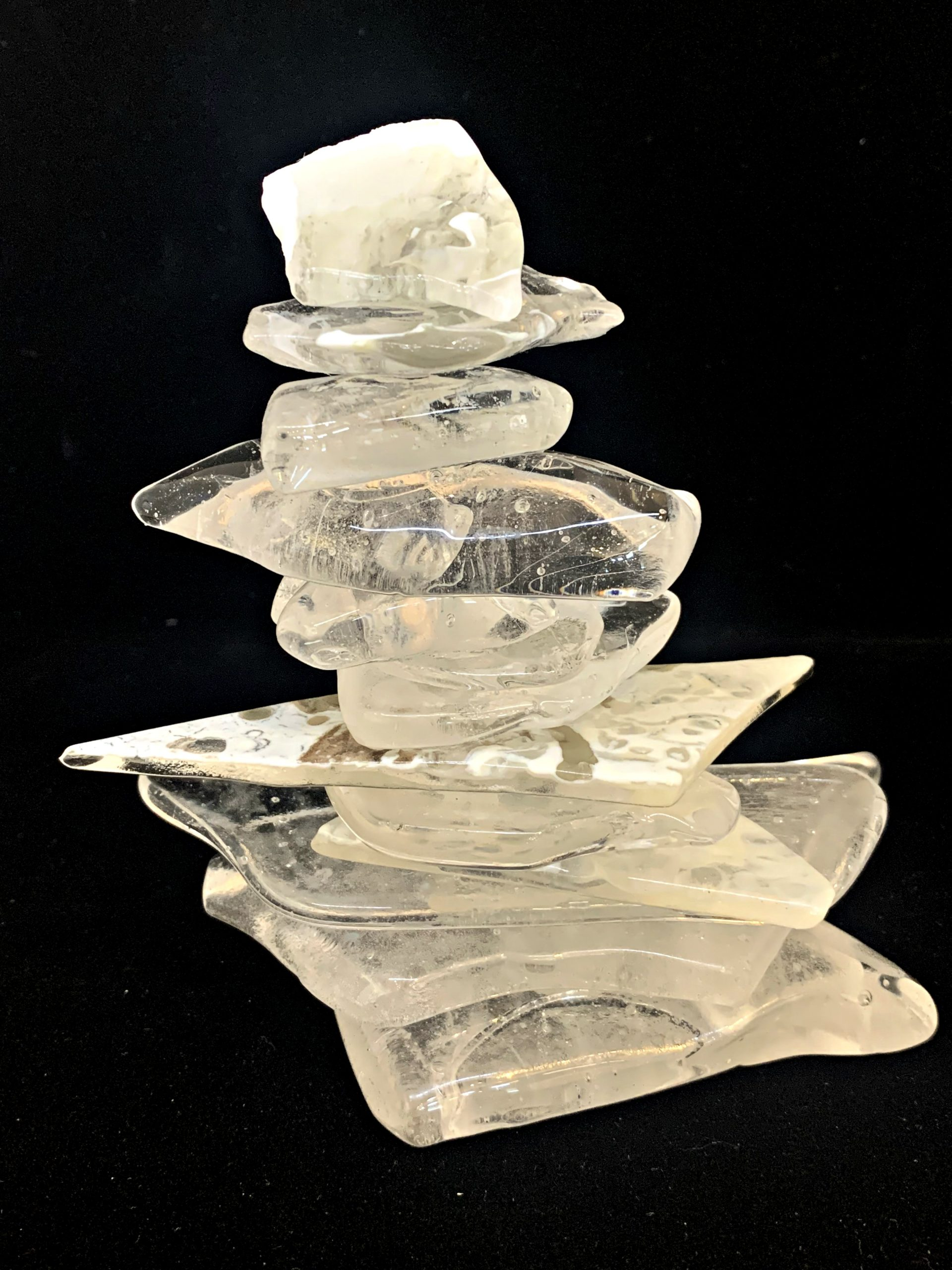 Cast Glass Rocky Mountain Cairn 37 by Heather Cuell | Effusion Art Gallery + Cast Glass Studio, Invermere BC