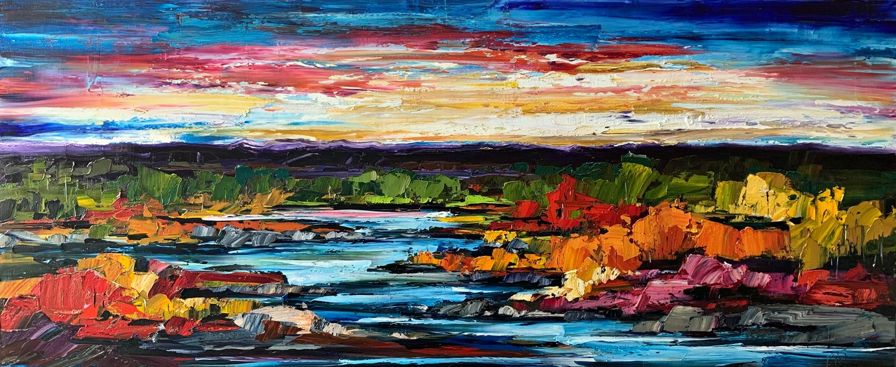 But it's Still Alright, landscape painting by Kimberly Kiel | Effusion Art Gallery +  Cast Glass Studio, Invermere BC