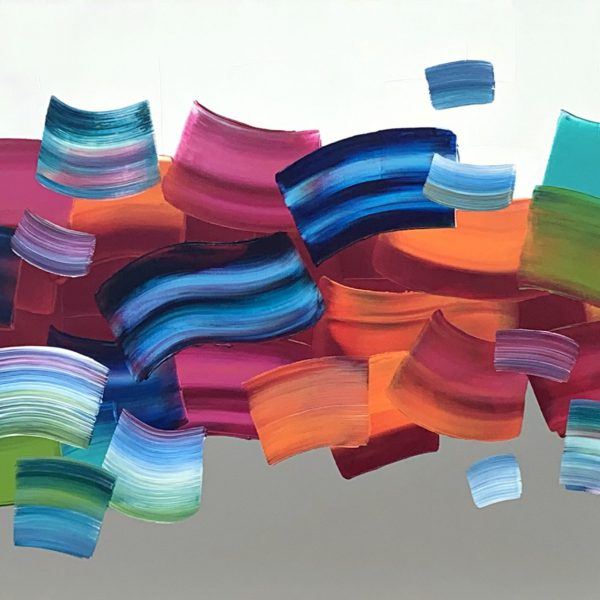 Colors of Nature, original abstract painting by Stephanie Rivet | Effusion Art Gallery + Cast Glass Studio, Invermere BC