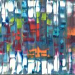 Happy Music, original abstract painting by Stephanie Rivet | Effusion Art Gallery + Cast Glass Studio, Invermere BC