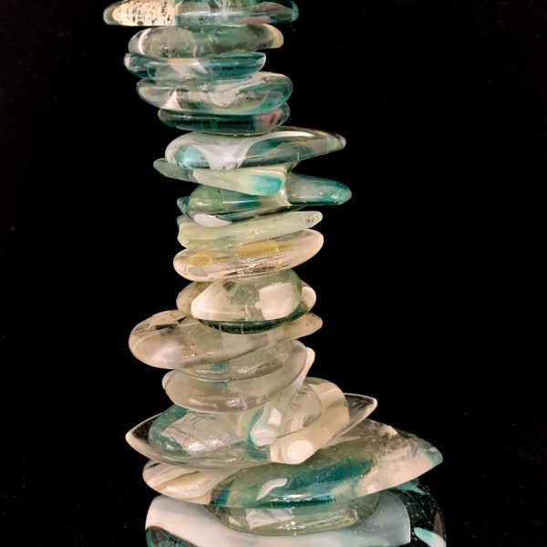 Cast Glass Cairn Sculpture #52 by Heather Cuell   Effusion Art Gallery + Cast Glass Studio, Invermere BC