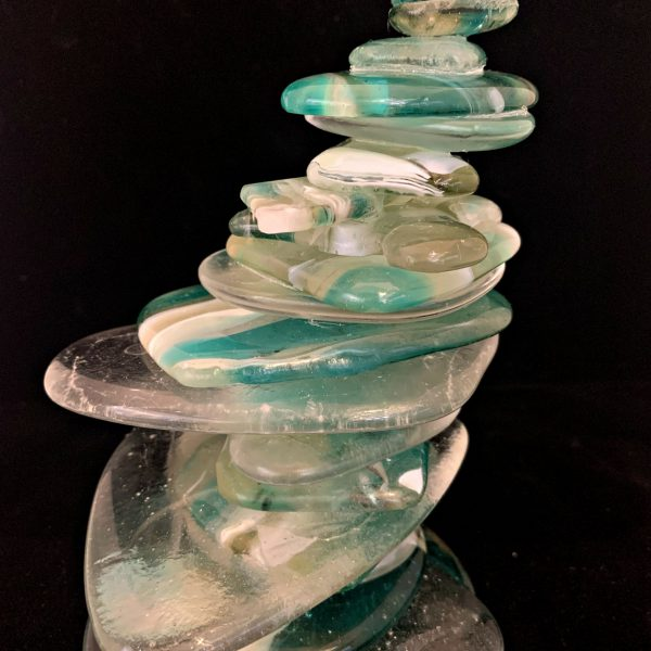 Cast Glass Cairn Sculpture #55 by Heather Cuell   Effusion Art Gallery + Cast Glass Studio, Invermere BC