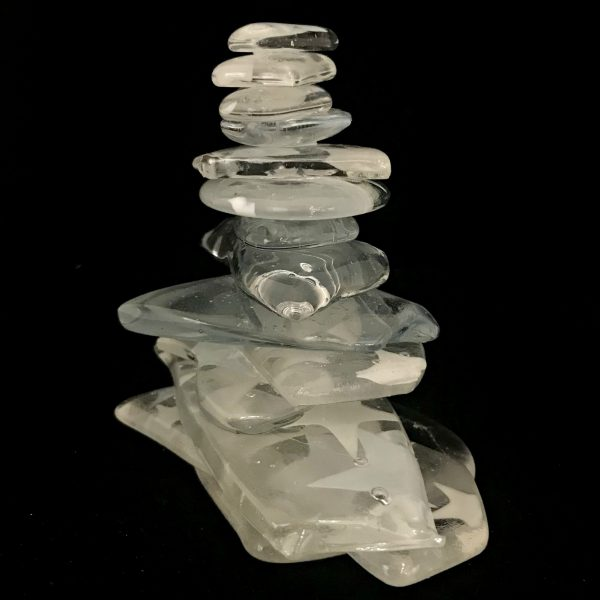 Cast Glass Cairn Sculpture #45 by Heather Cuell   Effusion Art Gallery + Cast Glass Studio, Invermere BC